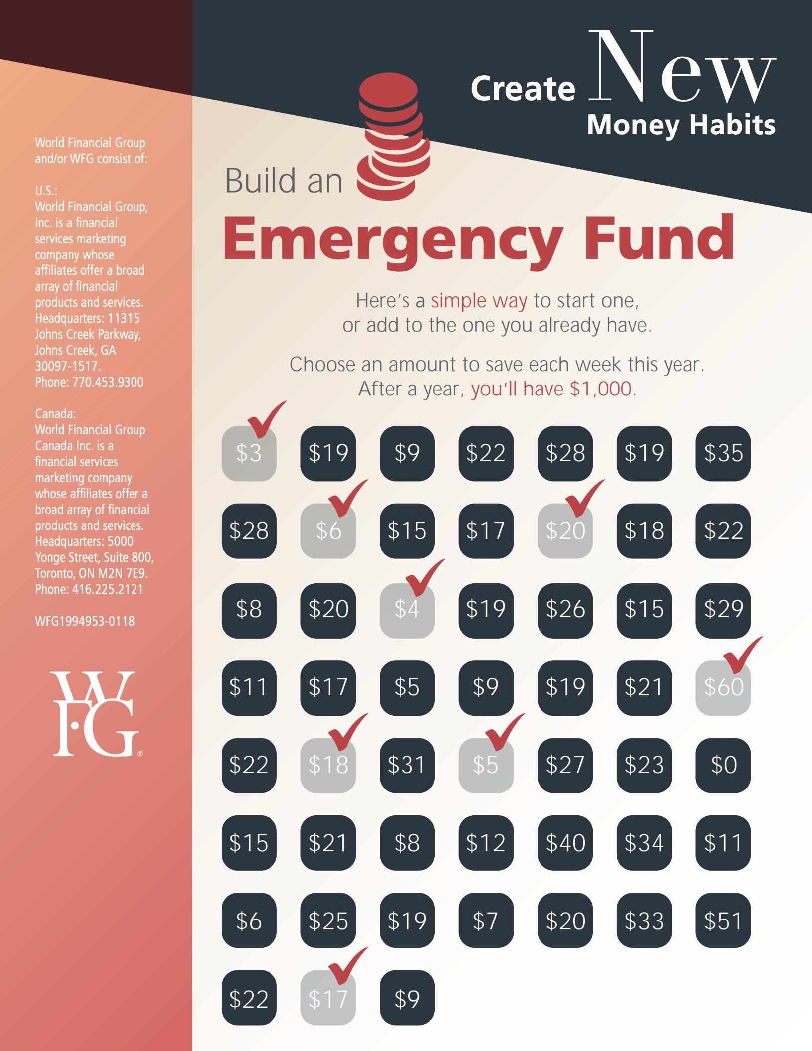 New Money Habits - Emergency Fund