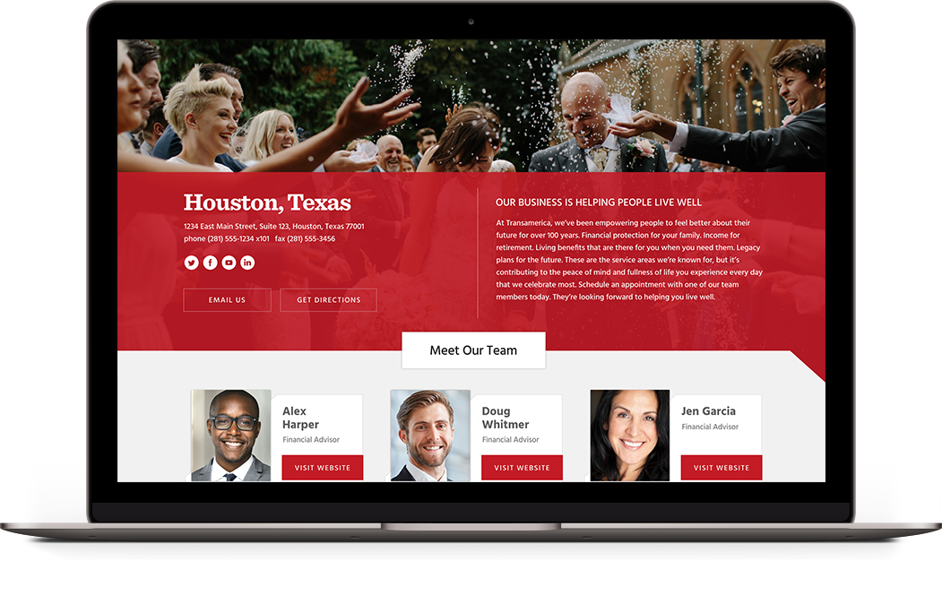 Agency Webpage on Laptop