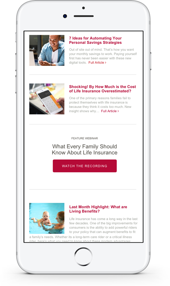 Newsletter on iPhone