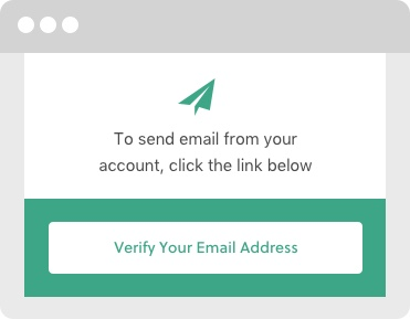 Confirm your email settings